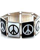 Wide Slide Show Bracelet