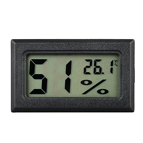 LinkStyle Mini Digital Temperature Humidity Meter Gauge Thermometer Hygrometer LCD Degree Centigrade (C) Display Indoor