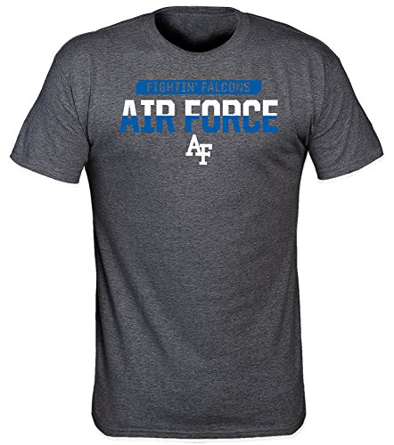- NCAA Air Force Falcons Laser Poly T-Shirt, Large, Dark Heather