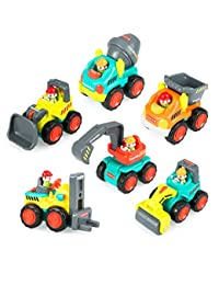 Pocket Car Toys, Sliding Vehicles Trucks Toy Sets for Baby Toddlers Over 18 Months – ( Set of 6: Bulldozer, Excavator, Dumper, Cement Mixer, Forklift, Road Roller) BOBEBE Online Baby Store From New York to Miami and Los Angeles