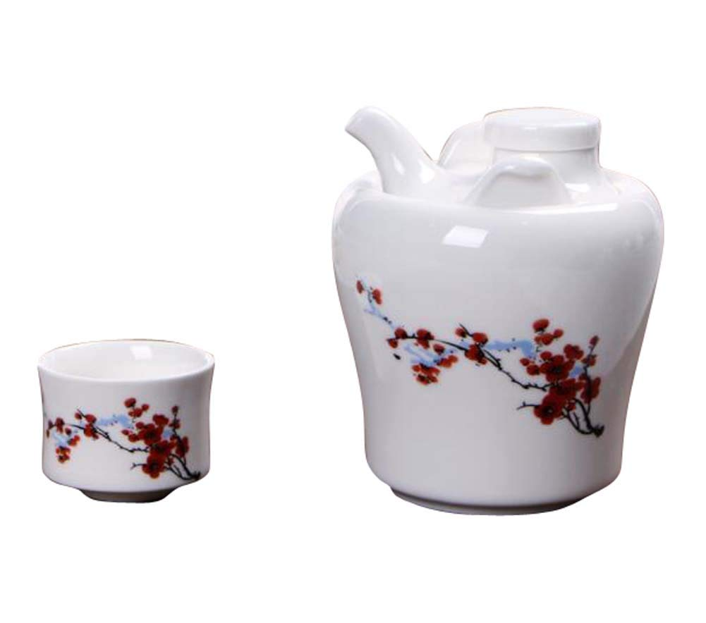 DRAGON SONIC Warm Wine Pot Set, Ceramic Sake Set, Wine Separator, E07