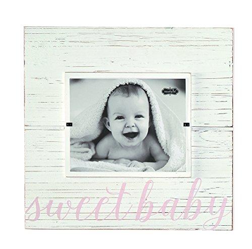 Mud Pie Sweet Baby Deluxe Wood Frame Nursery Décor, Pink, 8