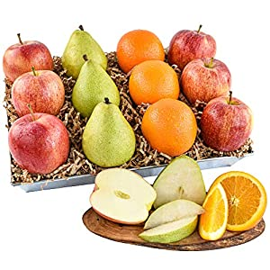 Premium Signature Orchard Fruit Basket with 6 Apples, 3 Pears and 3 Oranges (12 pieces) of Orchard Fresh Fruit from…