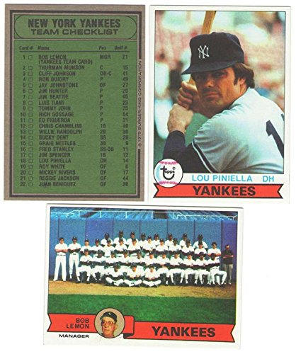 1979 Topps Burger King - NEW YORK YANKEES Team Set