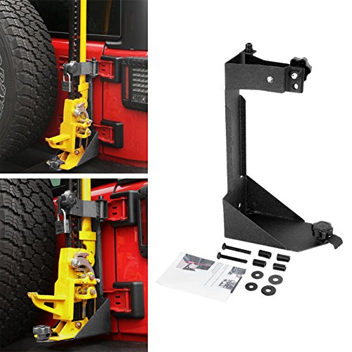 AUXMART High Lift Jack Mount Rear HIGH Lift Jack Mount for 2007-2017 Jeep Wrangle JK Off-Road