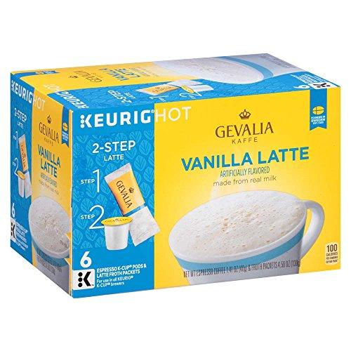 Gevalia Vanilla Latte Espresso K Cup Coffee Pods & Froth Packets (6 Count) -  4085952