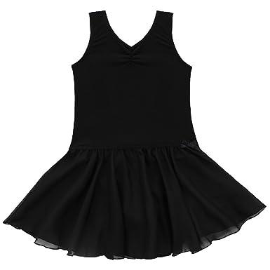 5c7fbbbeb TiaoBug Girls Sleeveless Ballet Dress Gymnastics Dance Leotard Skirt ...