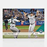 2018 JAMES PAXTON CANADIAN NO HITTER MARINERS @ TORONTO BLUE JAYS TOPPS NOW #187 + TOPLOADER