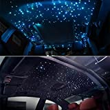 Car use 12W RGBW Remote Music Mode LED Fiber Optic Star Ceiling kit, Mixed 295 Strands 9.8ft Long , 0.03in+0.04in+0.06in