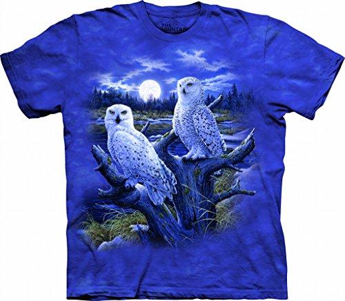 2 Organic Womens T-shirt - The Mountain 1011344 Snowy Owls Adult Unisex Short Sleeve T-Shirt 2X Blue/Purple