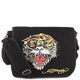 Ed Hardy Leo Tiger Messenger Bag -Black