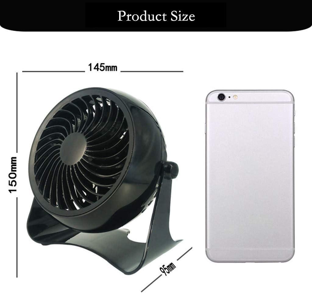 LiLiMeng Mini Elegant Black USB Desktop Fan Small Mute Personal Radiator USB Power Supply Portable Fan Outdoor Fan Party Favor Fashion Simple Gift