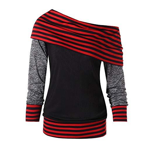 Cross Trim Dress Criss (Ulanda Women's Stripe Skew Neck Trim Off The Shoulder Raglan Sleeve Pullover Sweatshirt Top)