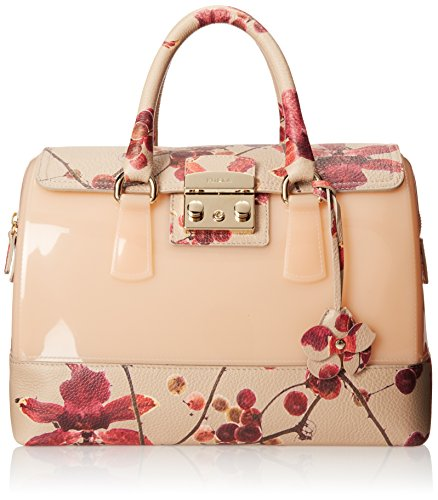 Furla Candy Vanilla Medium Satchel Top Handle Bag, Acacia ...