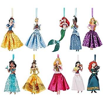 Amazon Com Disney Princesses Holiday Ornament Set Of 7