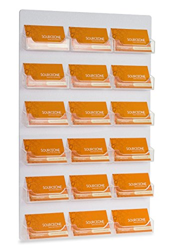 - Source One Business Card/Gift Card Display Holder with Premium Wall Mount and 18 Pockets (18PWALLBC)