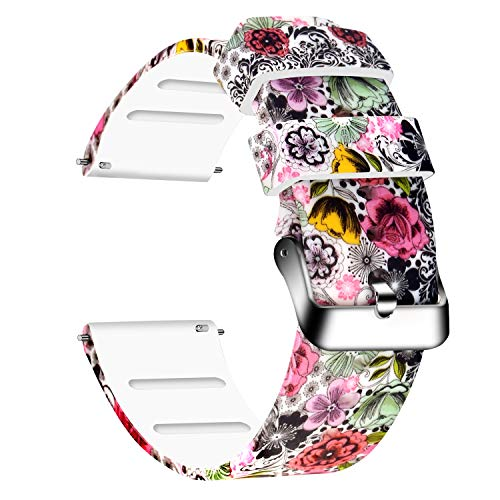 - Lwsengme Silicone Watch Replacement Bands with Quick Release-Choose, Choose Color & Width (20mm,22mm) Soft Rubber Watch Strap for Men & Women Smart Watch Fitness (Colorful-03, 22mm)