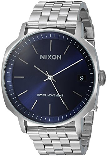 Nixon Men's 'Regent II SS' Swiss Quartz Stainless Steel Casual Watch, Color:Silver-Toned (Model: A9632372-00)