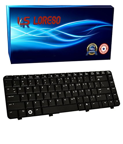 Laptop Keyboard HP Pavilion dv4-2161nr dv4-2162nr dv4-2164us dv4-2165dx dv4-2167sb dv4-2169nr dv4-2170us (Loreso Replacement Part) - (Black) (Hp Dv4 Keyboard)