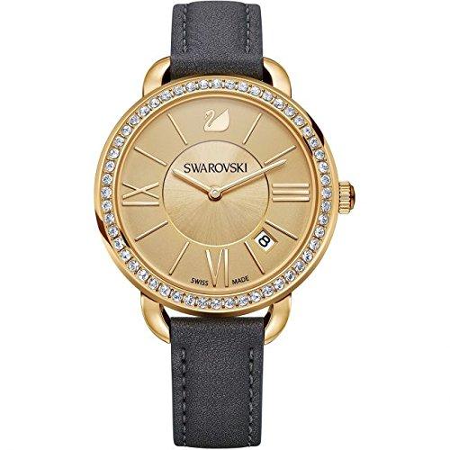 Swarovski Reloj analogico para Mujer de Cuarzo con Correa en Piel 5221141: Amazon.es: Relojes