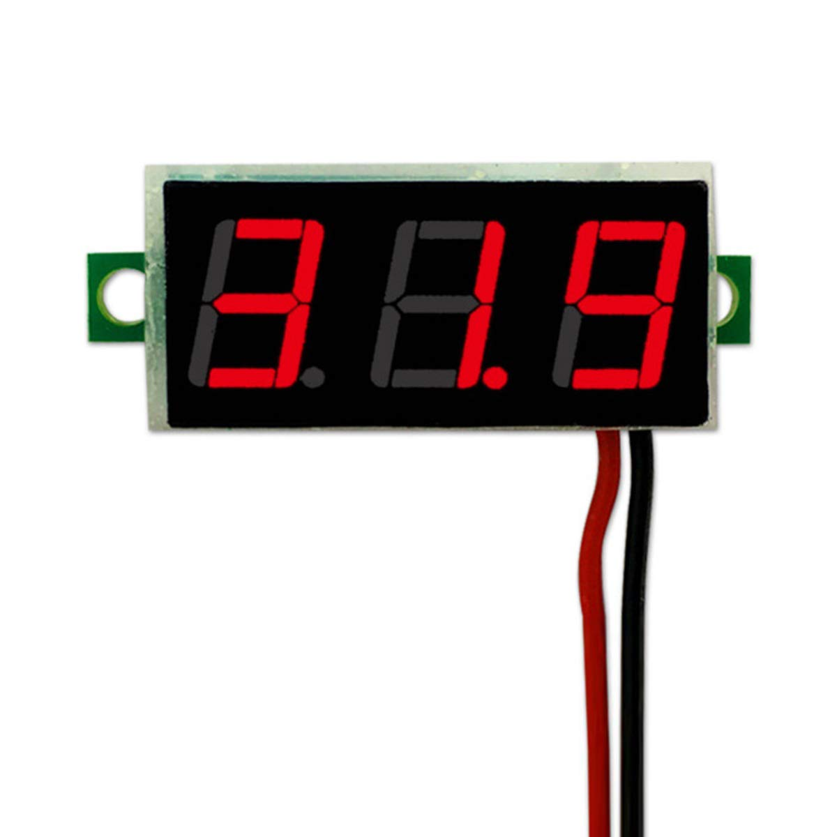 Digital 0.28inch LED Voltage Meter DC 2.5~30V Voltmeter (Color : Red) Tabpole