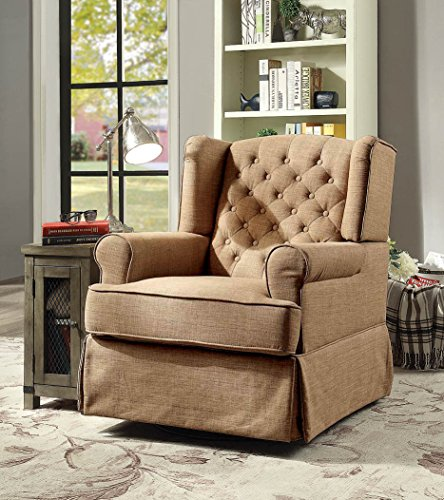247SHOPATHOME IDF-RC6586BR Paloma Rocking Chair, One Size, Brown