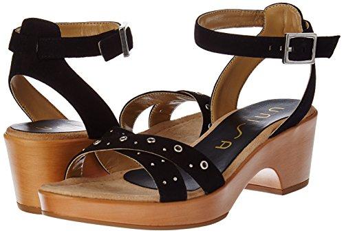 Sandales Ibiza Femme Ouvert Bout black ks Noir Unisa 1fdwx66