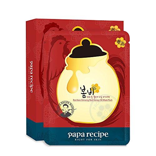 Papa Recipe Bombee Ginseng Red Honey Oil Mask Pack 10 Masks 20 g Each