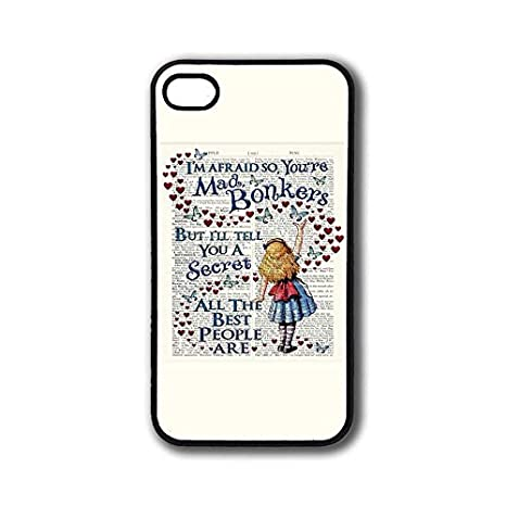 Cover Per Iphone 4 4s Frasi Tumblr Custodia Disney Alice In