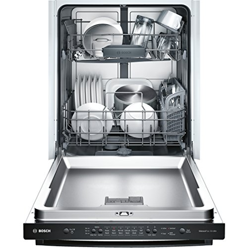 "Bosch SHX3AR76UC Ascenta 24"" Tall Tub Built-In Dishwasher with Stainless-Steel Black"