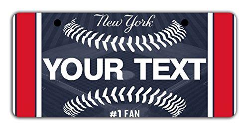 Mens New York Yankees Costumes (BleuReign(TM) Personalized Custom Name Baseball New York Blue Bicycle Bike Moped Golf Cart 3