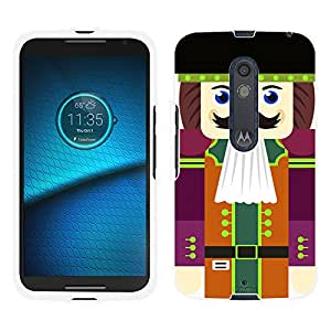 Motorola Droid Maxx 2 Case, Snap On Cover by Trek Happy Nutcracker with Black Hat Case