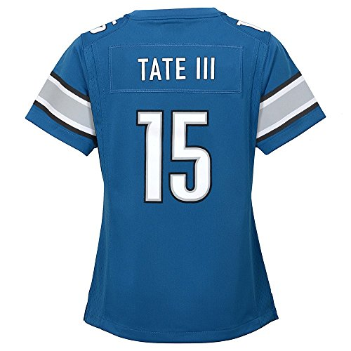 NIKE Golden Tate Detroit Lions Home Blue Jersey Girls Youth (S-XL) ()