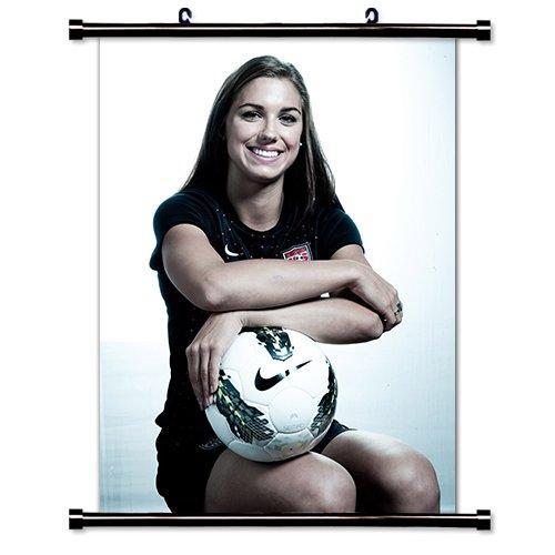 Mia Hamm Poster - Alex Morgan US Women's Soccer Star Wall Scroll Poster (32 x 43) Inches