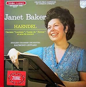 "Haendel: Cantata ""Lucrezia"" / Largo de ""Xerxes et airs de concert [Vinyl LP] [Schallplatte]"