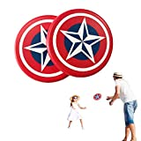 Systreek 2 Pack Soft Frisbee Disc, Round Edge Foam Frisbee, Throwing Flying Frisbee Disc Game, Outdoor Frisbee for Kids and Adults, Parent-Child Interactive Toy, Perfect for Reaction,Agility, Red