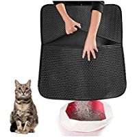 Original Cat Litter Mat Anti-Tracking Trapping Large Jumbo Size Honeycomb Double Layer Waterproof Urine Proof for Hooded…