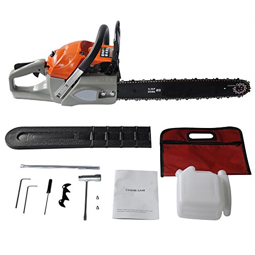 Oanon 20'' 62cc 4.2HP petrol Chain Saw with chainsaw Bar Cover, Tool Kit, Fuel Mixing Bottle, Manual (62cc) by Oanon