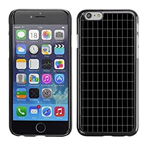 Graphic4You CLEAN BLACK GRID PATTERN HARD CASE COVER FOR APPLE iPhone 6