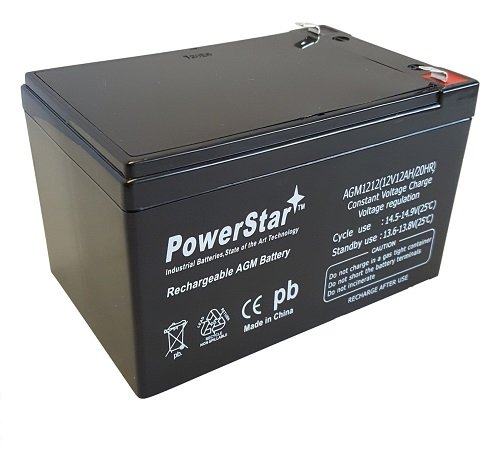 Powerstar 12 Volt 12 Amp Rechargeable Battery Replaces 12120 ub12120
