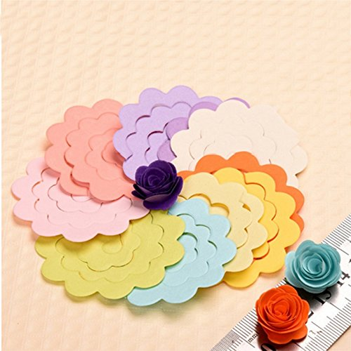 Kicode Colorful Handmade Kids Puzzle 20Pcs 20 Color /Lot Rose Quilling Paper Mixed Color Origami DIY