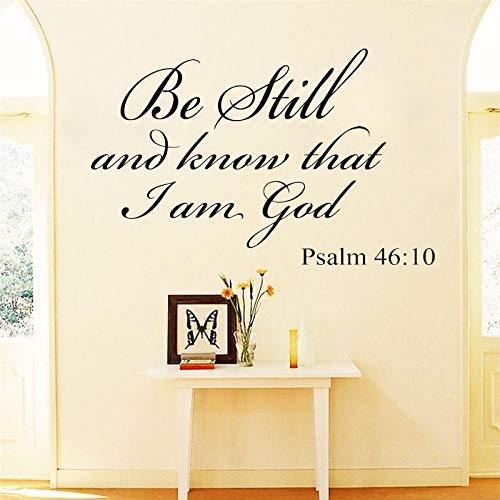 Doodle God Dolphin (Be Still and Know That I am God Psalm 46:10 Vinyl Wall Art Religious Sticker Home Decor Quote Bible Scripture Wall Decals g2)