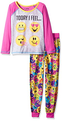 Komar Kids Big Girls' Today I Feel 2 Piece Sleepwear Set