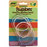 BUGABLES Mosquito Bug Repellent Bracelet Bands DEET FREE ReUsable For Up to 200 Hours (Set of 3),colors may vary