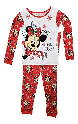 Disney Minnie Mouse Little Girls Toddler Christmas Pajama Set (3T) -
