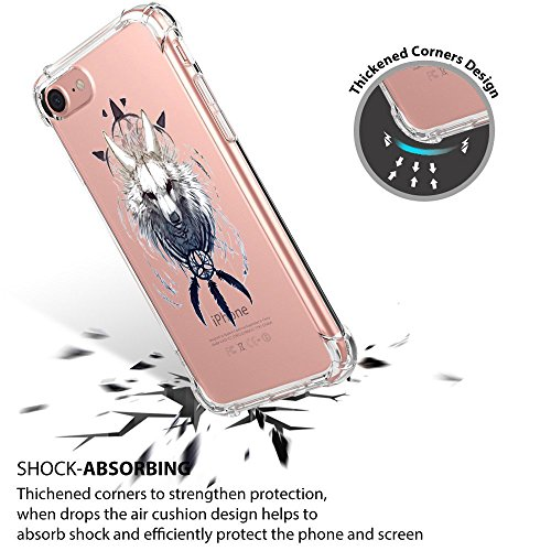 Trasparente Scratch Silicone iPhone Apple iPhone Cover Ultra iPhone 8 TPU 06 7 BackCase Crystal Custodia Slim Premium 7 Thin Gel 8 Clear per iPhone Flessibile Anti 8p6wAq8