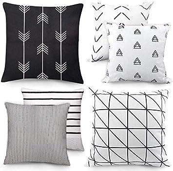 Amazon.com: Fundas de almohada geométricas con patrón de ...