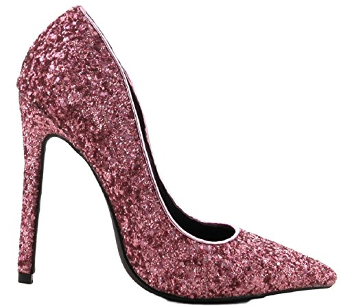 Slip Pointed CAPE 4 Shiny High Pink On Pointy ROBBIN Priscilla Toe Heel Pink Glitter Sparkle Pump rqqAYawP