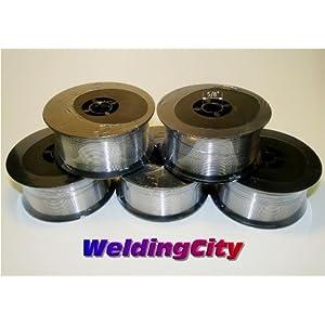 WeldingCity 5 Rolls of ER5356 Aluminum MIG Welding Wire 1-Lb Spool 0.045″ (1.2mm)