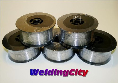 WeldingCity 5 Rolls of ER4043 Aluminum MIG Welding Wire 1-Lb Spool 0.030'' (0.8mm)